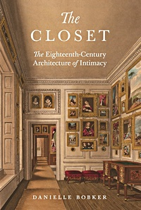 Cover of the book, showing a painting of a period room with walls covered with paintings